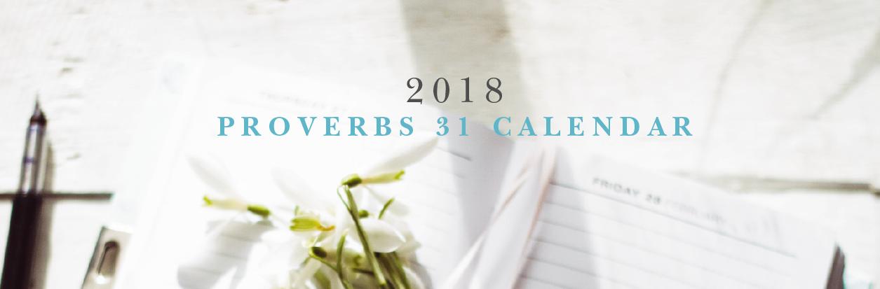 Proverbs 31 2018 Calendar