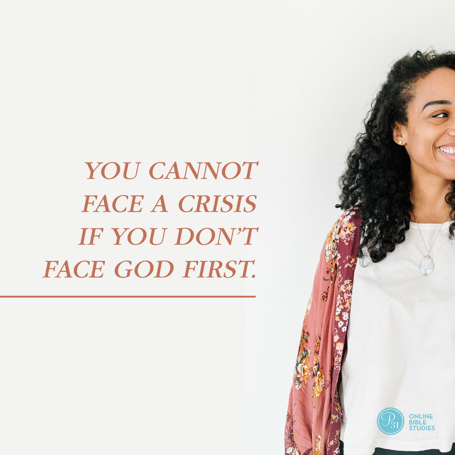 """You cannot face a crisis if you don't face God first."" - Max Lucado  #BecauseOfBethlehem 