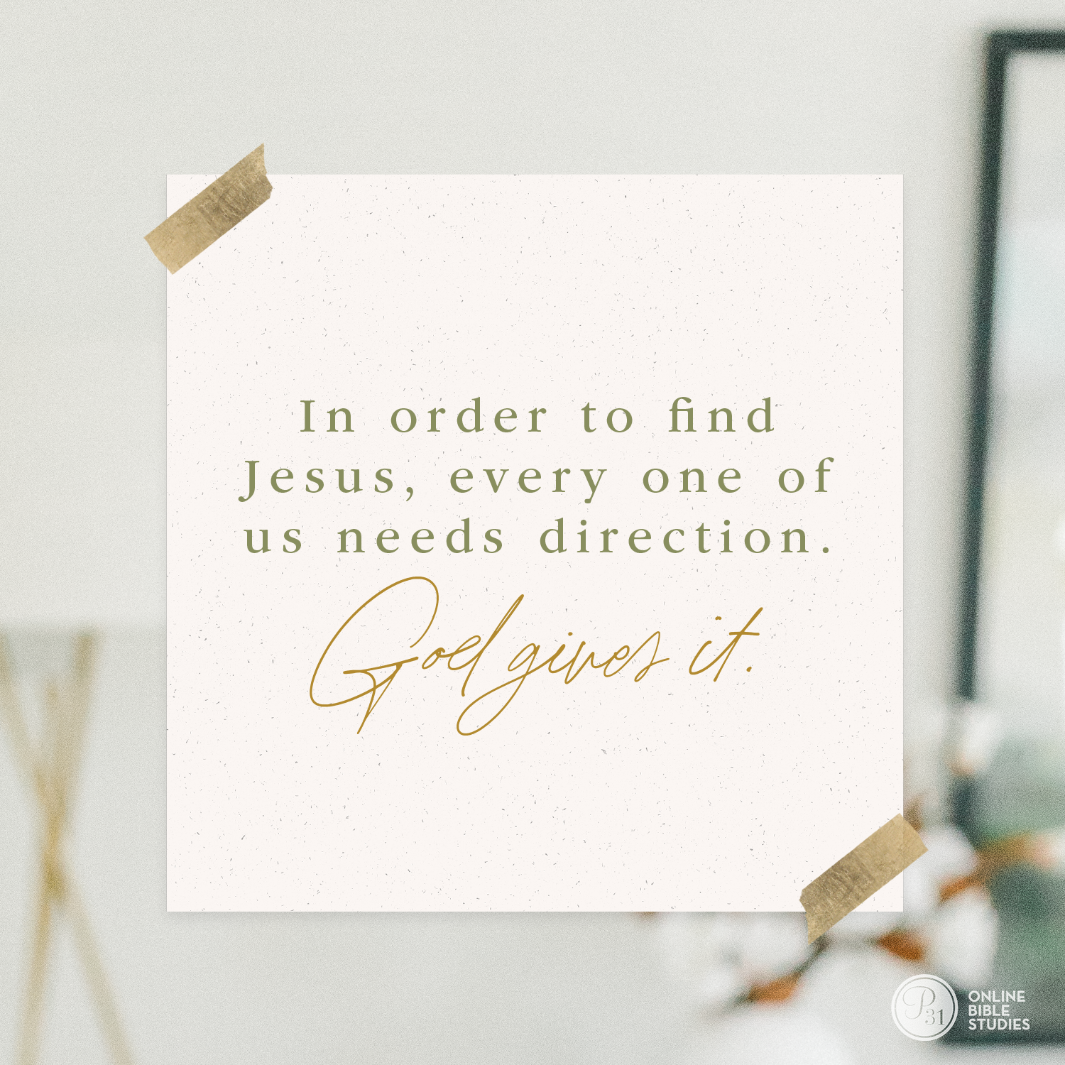 """In order to find Jesus, every one of us needs direction. God gives it."" - Max Lucado  #BecauseOfBethlehem 