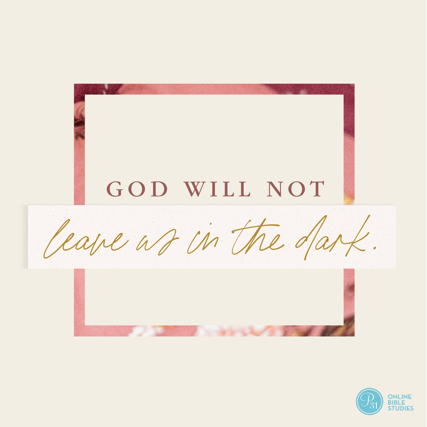 """God will not leave us in the dark."" - Max Lucado  #BecauseOfBethlehem 