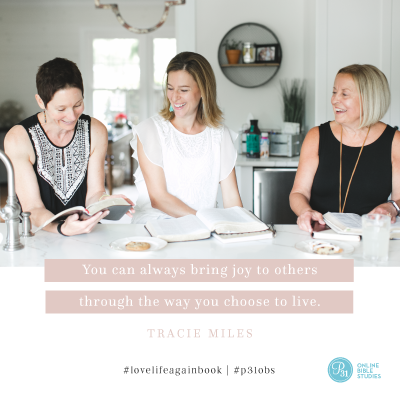"""You can always bring joy to others through the way you choose to live."" - Tracie Miles  #lovelifeagainbook 