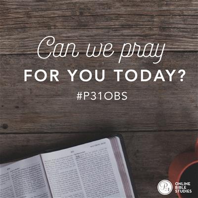 P31OBS Prayer request