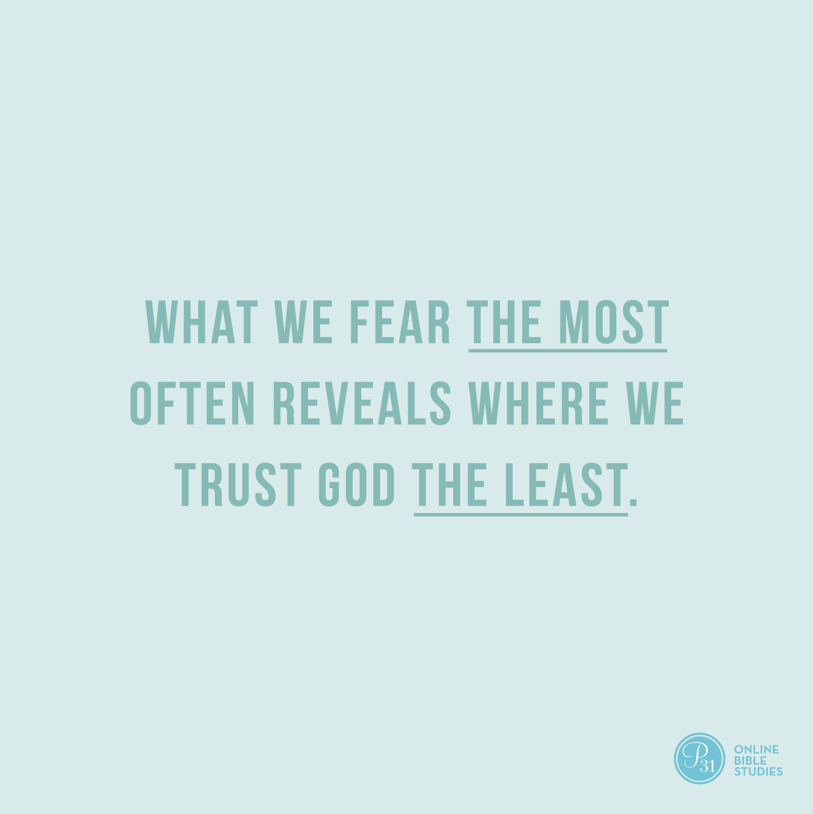 """God showed me that what I feared the most revealed where I trusted God the least.""  - Craig Groeschel  #DangerousPrayers 