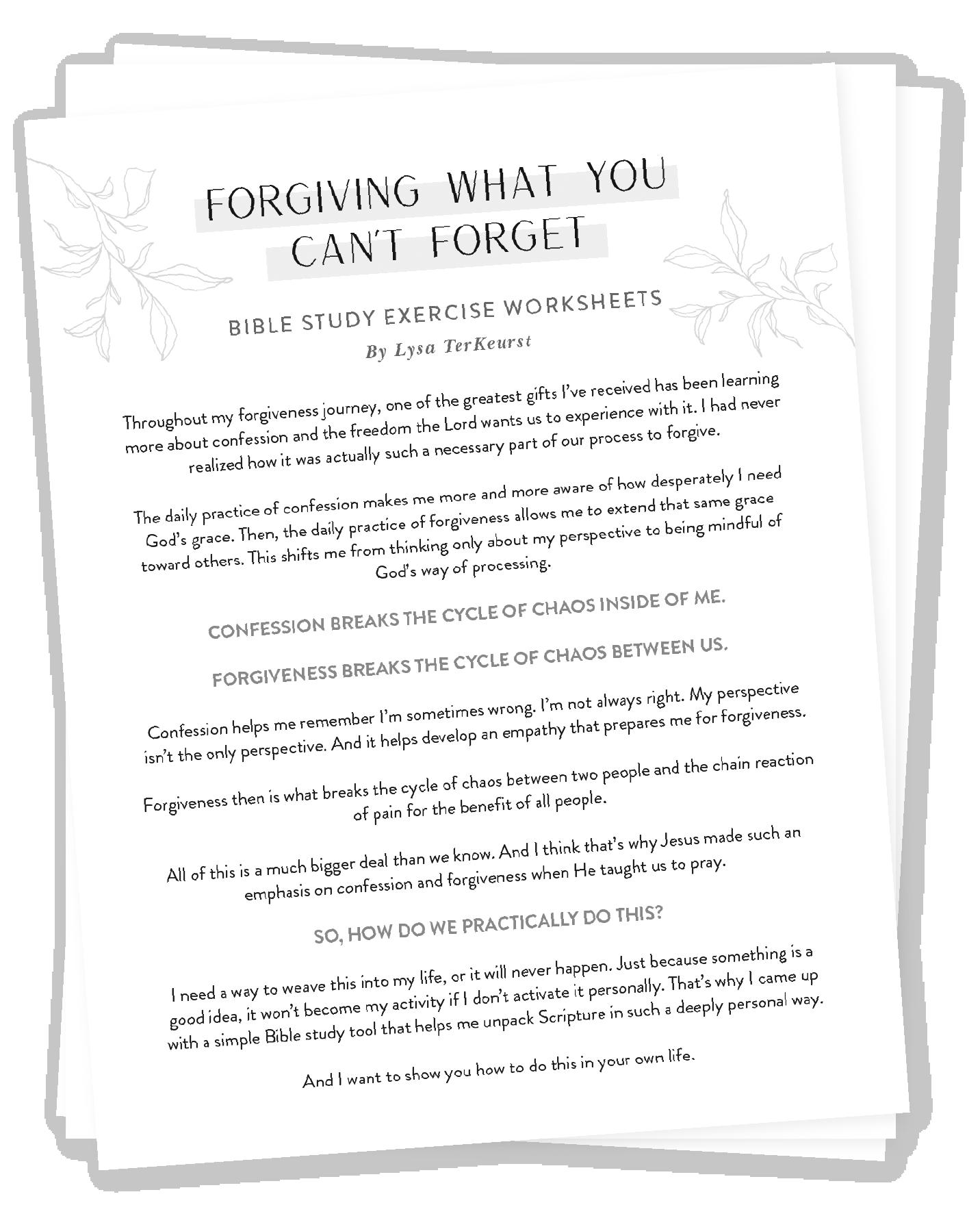Bible Study Exercise Worksheets Image