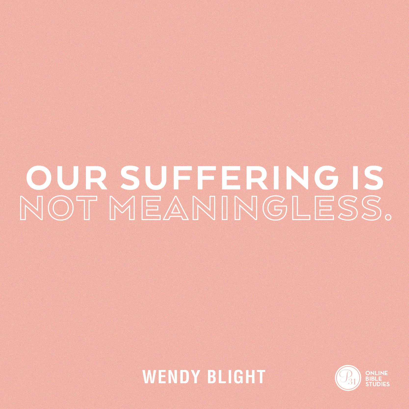 """""""Our Suffering in not Meaningless."""" - Wendy Blight  #HiddenJoyBook 