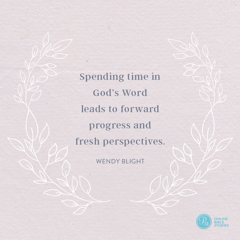 """""""Spending time in God's Word leads to forward progress and fresh perspectives. """" - Wendy Blight  #HiddenJoyBook 