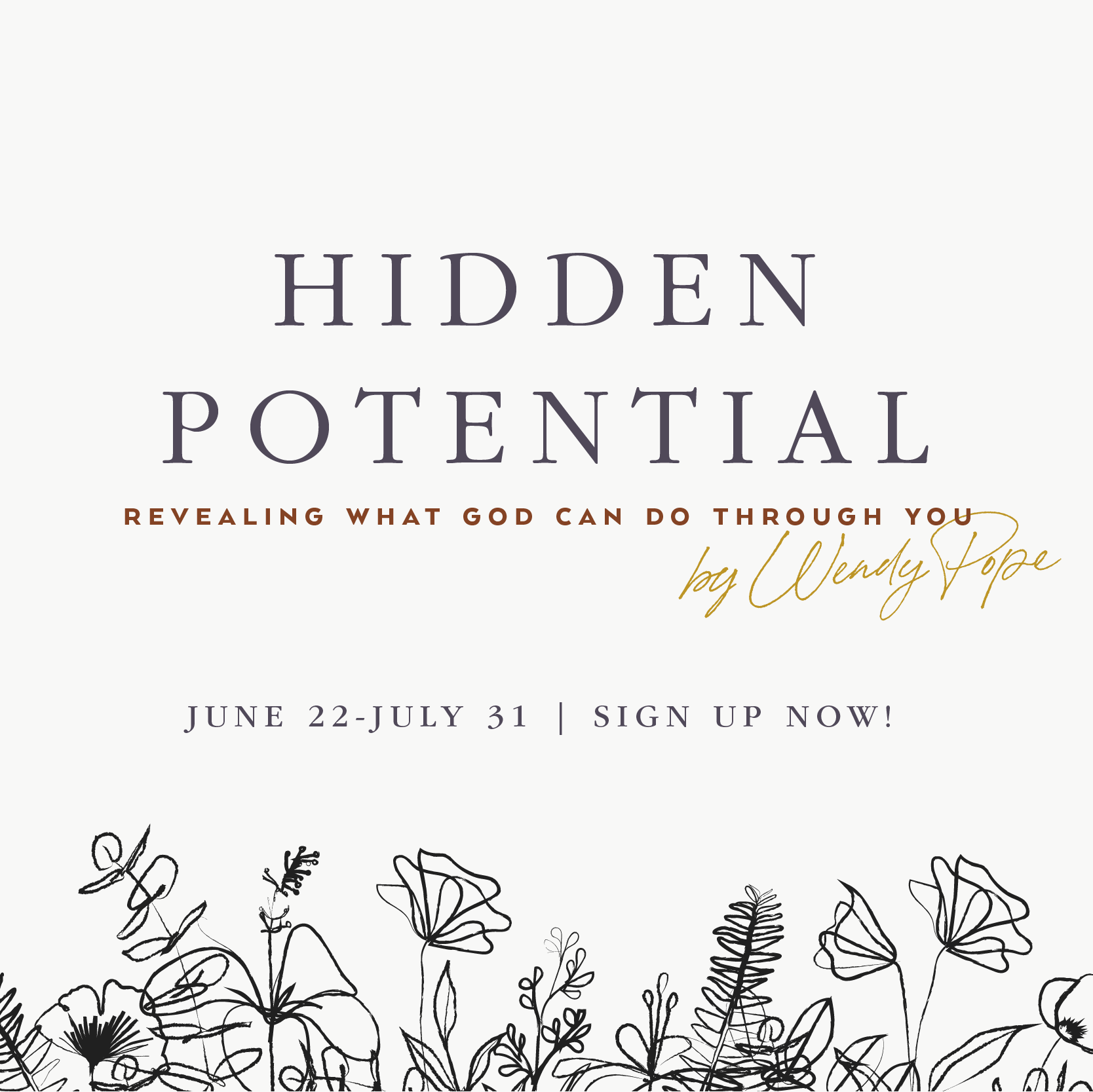 """The next Proverbs 31 Online Bible study is """"Hidden Potential"""" by Wendy Pope! Study starts June 22. Learn more and sign up here --> https://www.proverbs31.org/study/online-bible-studies  #HiddenPotential #P31OBS"""