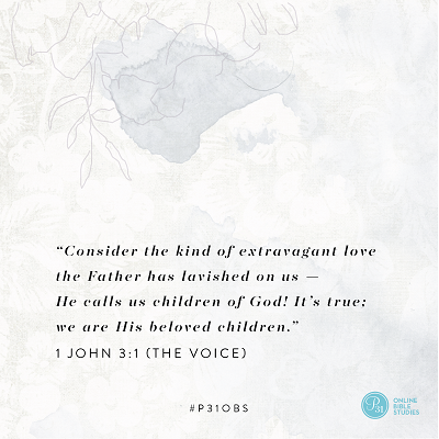 "1 John 3:1 (The Voice) | ""Consider the kind of extravagant love the Father has lavished on us -- He calls us children of God! It"
