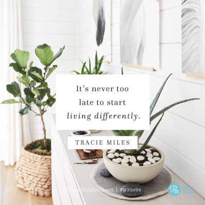 """It's never too late to start living differently."" - Tracie Miles  #lovelifeagainbook 