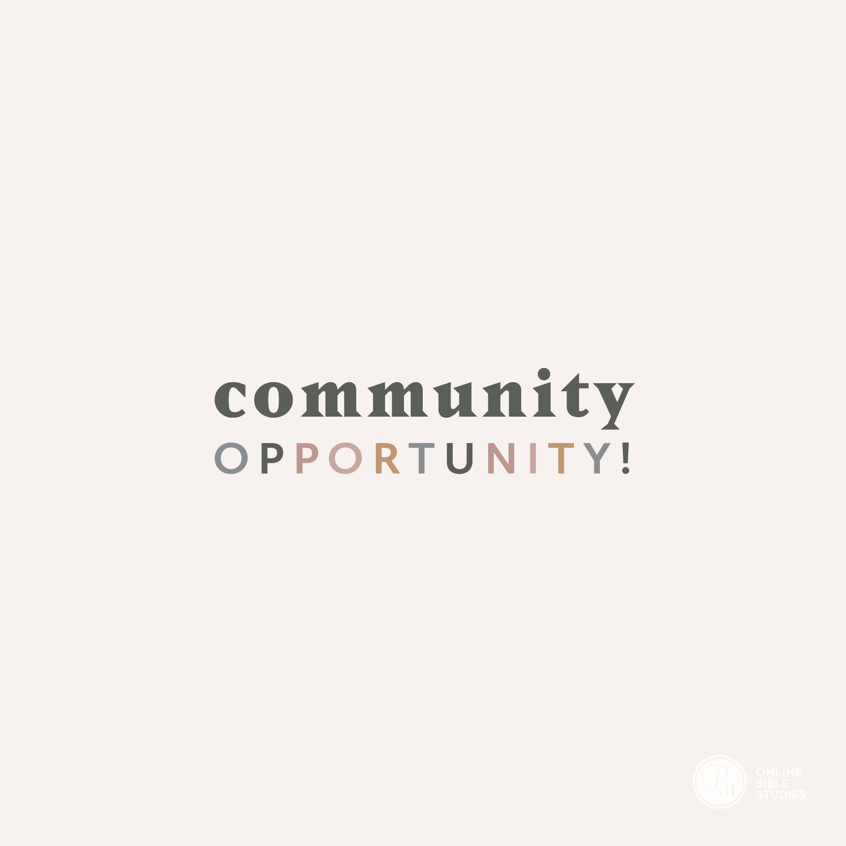 """Community Opportunity""  #TrustworthyStudy 